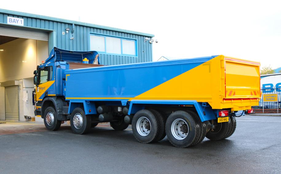 TruckTec tipper paint repair